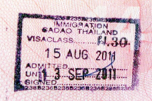 thailand entry stamp